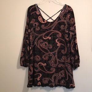 Xhilaration Long Sleeve Dress Slit Sleeves Size XL